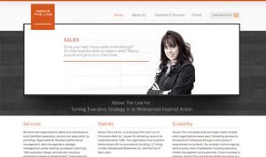 Above the line website