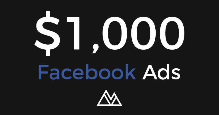 $1000 in Facebook advertising